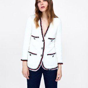 ZARA Tweed jacket with trims S